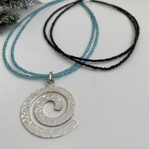 Jewelry - NWOT Hammered Swirl Pendant Necklace